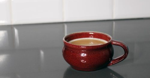 A cup of CBD-infused bulletproof coffee